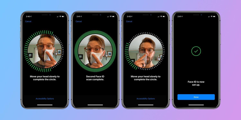 コロナ 新ビジネス 新規事業 Apple 顔認証 マスク iOS