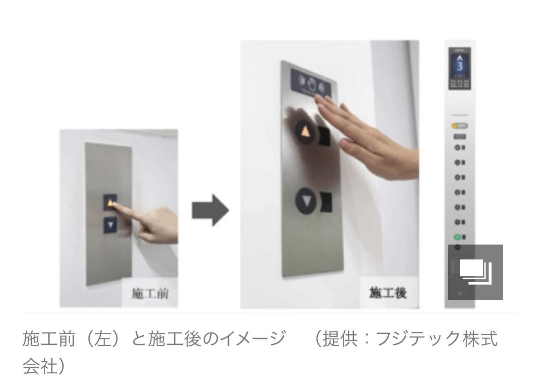 コロナ 新ビジネス 新規事業 非接触 エレベーター ボタン 感染対策